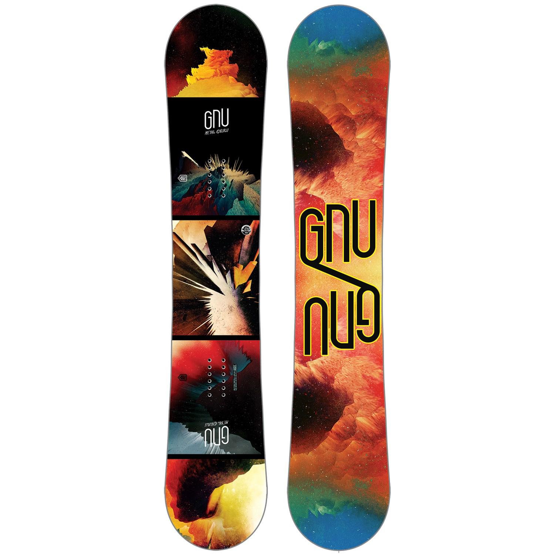 GNU Metal Gnuru Asym EC2 BTX Snowboard + GNU Psych