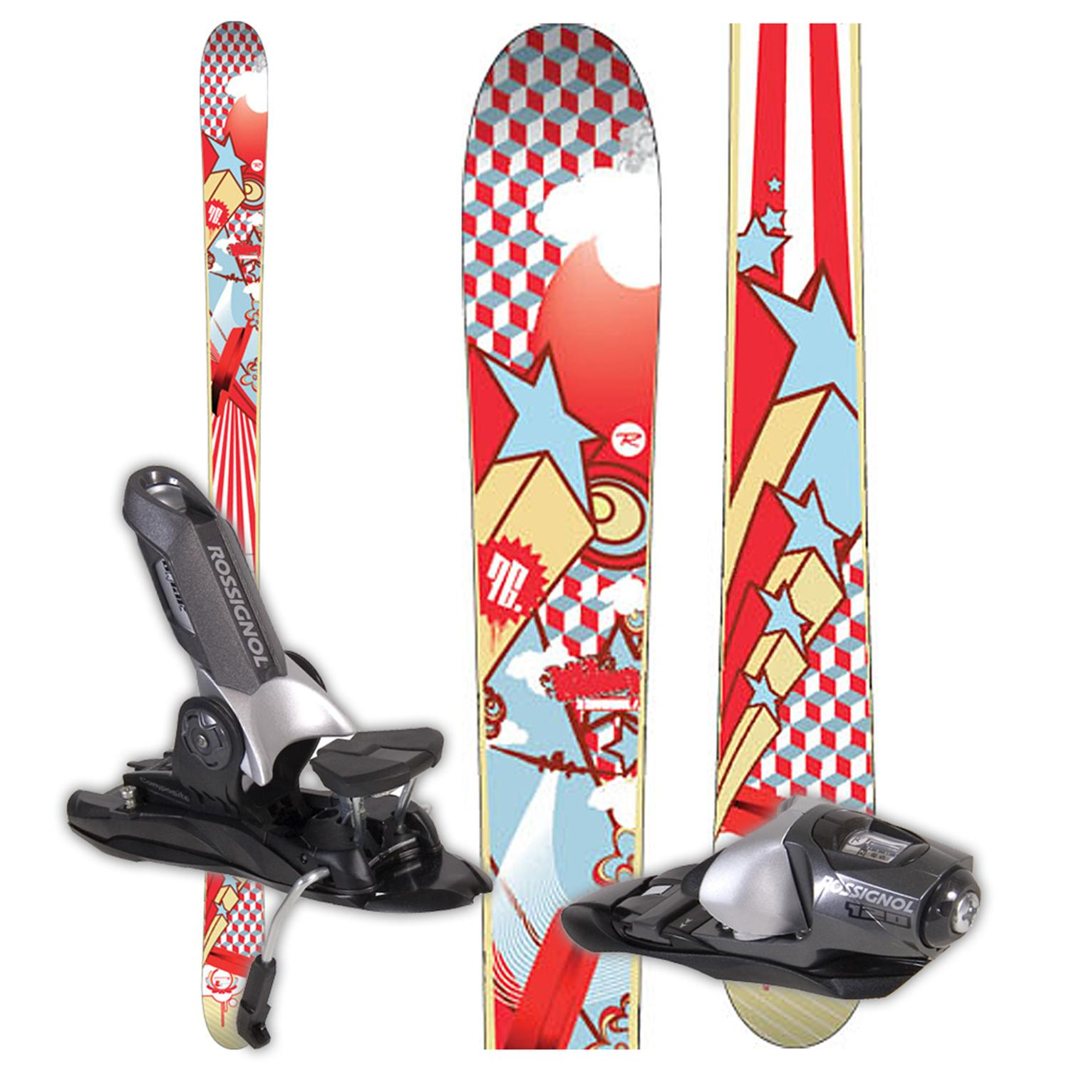 rossignol scratch bling skis bindings used 2008 evo. Black Bedroom Furniture Sets. Home Design Ideas