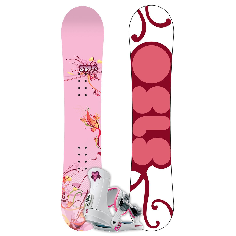 5150 Mini Empress Snowboard + FF1000 (White) Bindings
