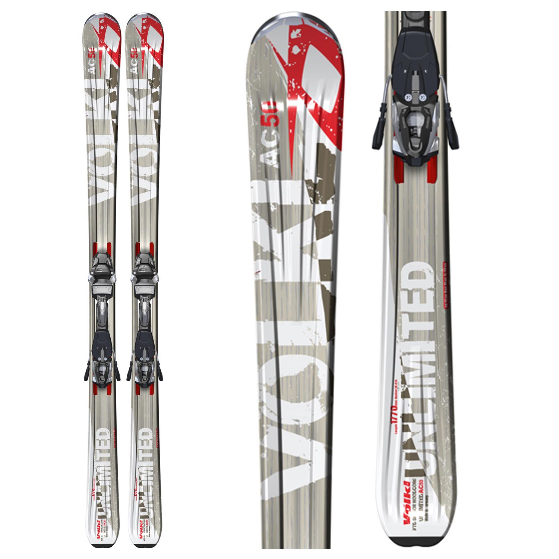 Volkl Unlimited Ac50 Skis + Marker Ipt Wide Ride 14.0 D