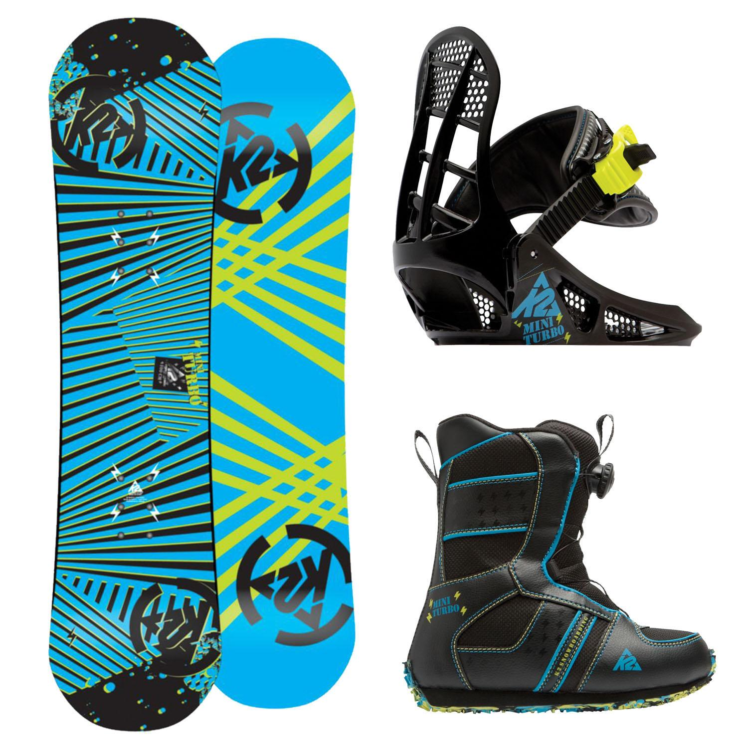K2 Grom Pack Complete Jr. Snowboard Package Mini Turbo