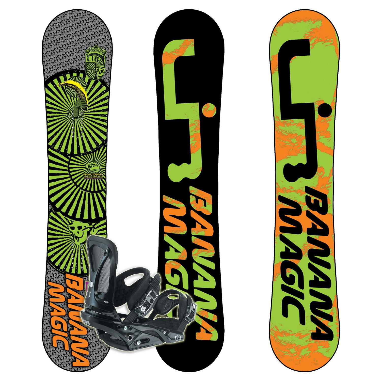 Lib Tech Banana Magic BTX Banana Rocker Snowboard + Burton
