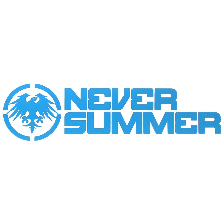 "Never Summer 12"" Corporate Logo Die Cut Sticker | evo"