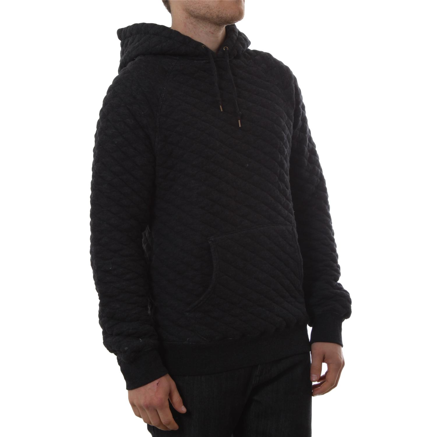 obey clothing creature comforts quilted pullover hoodie evo outlet. Black Bedroom Furniture Sets. Home Design Ideas