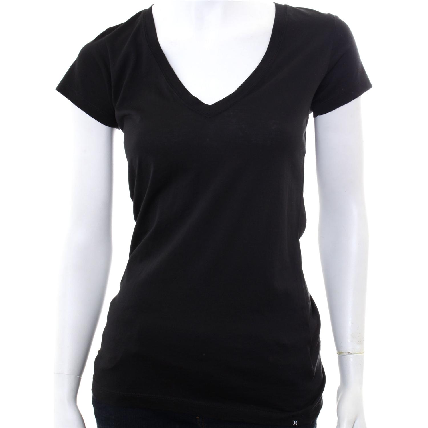 Black V Neck T Shirts For Women