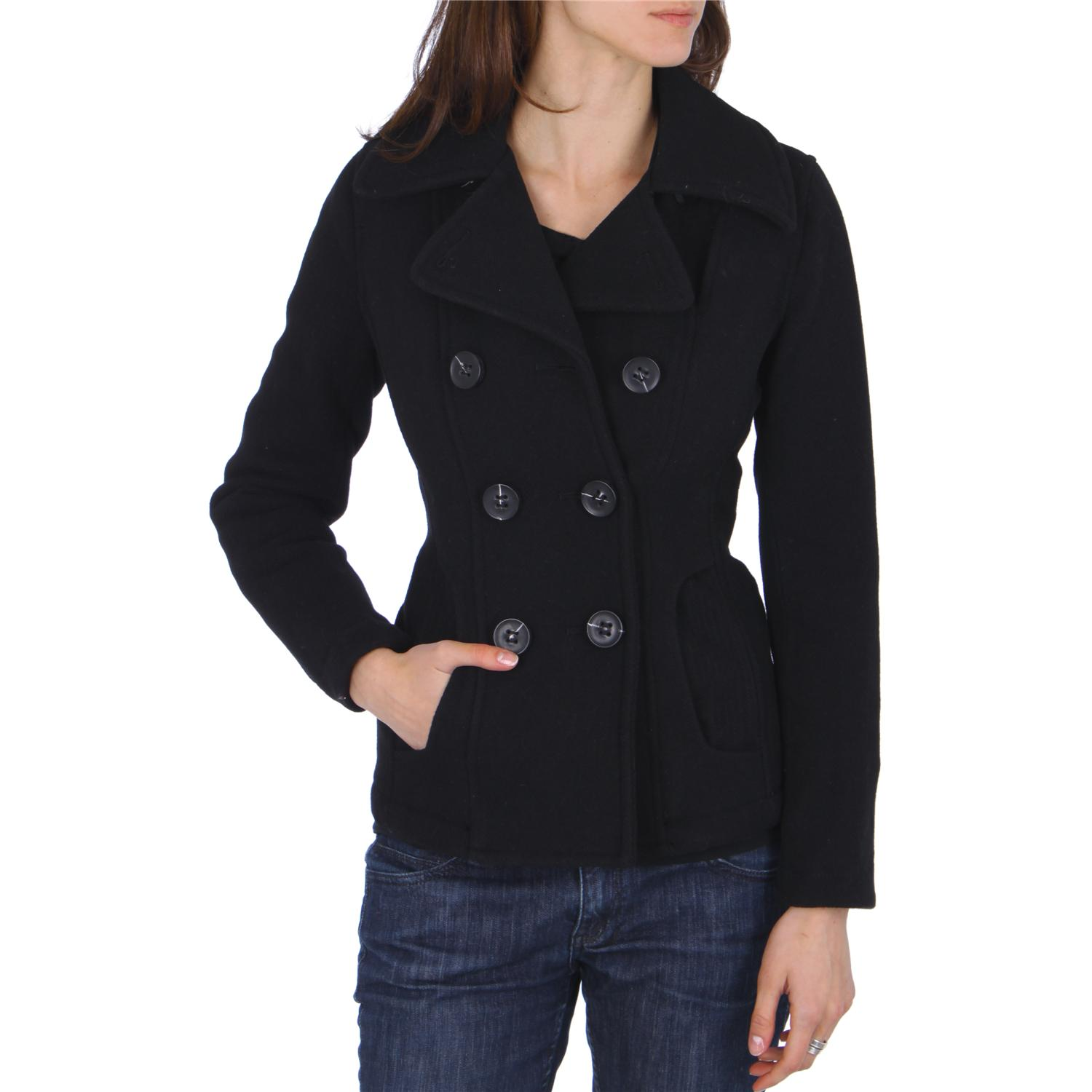 Cheap Black Pea Coats For Women