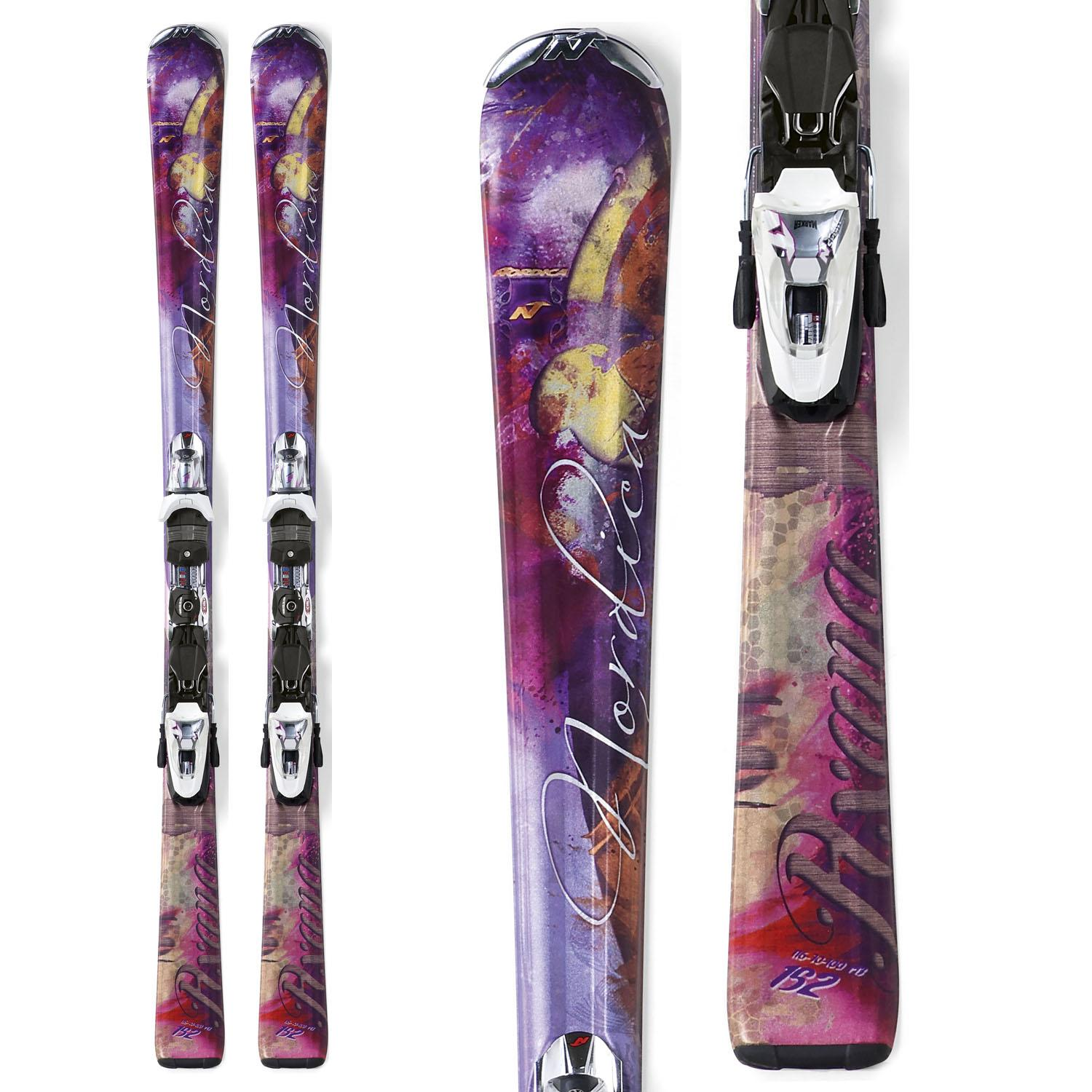 Nordica axana violet skis n sport xct bindings women s