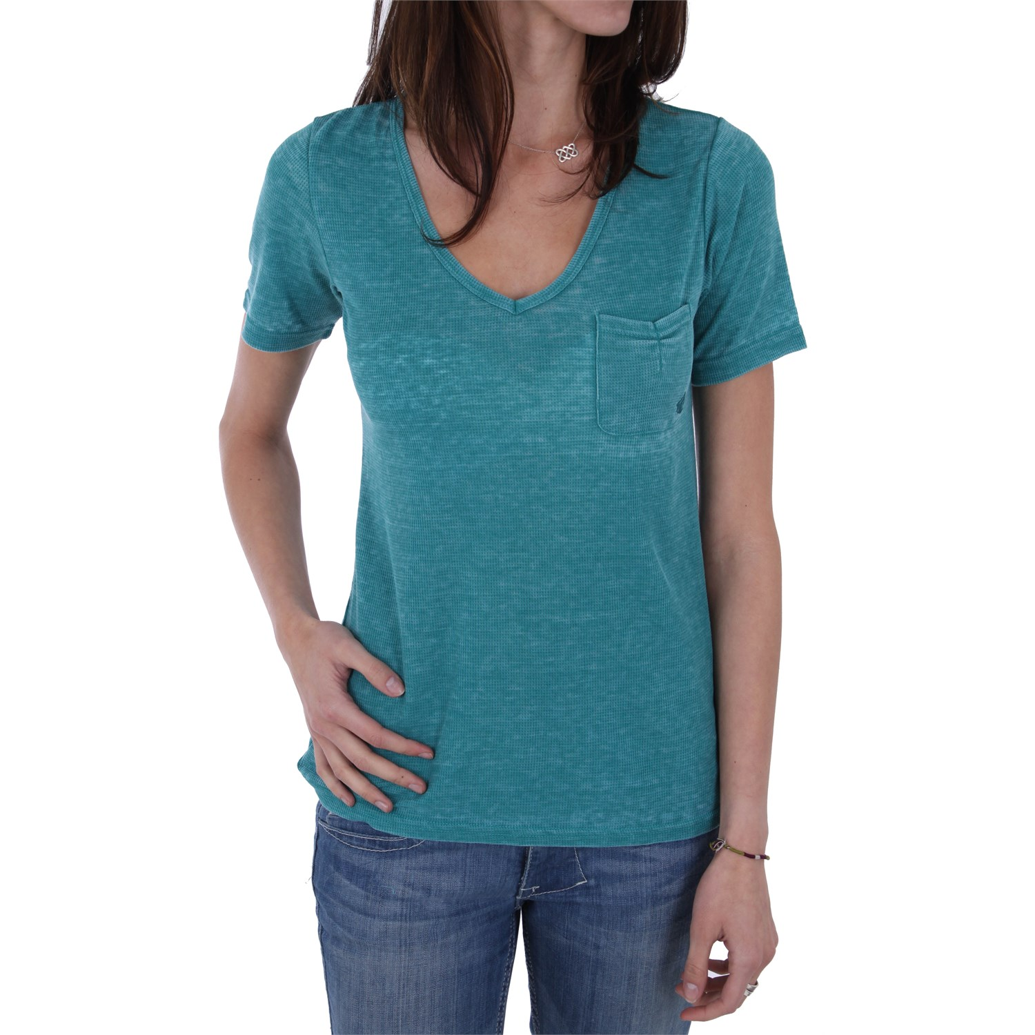 Volcom eastwick thermal v neck t shirt women 39 s evo outlet for Thermal shirt for women