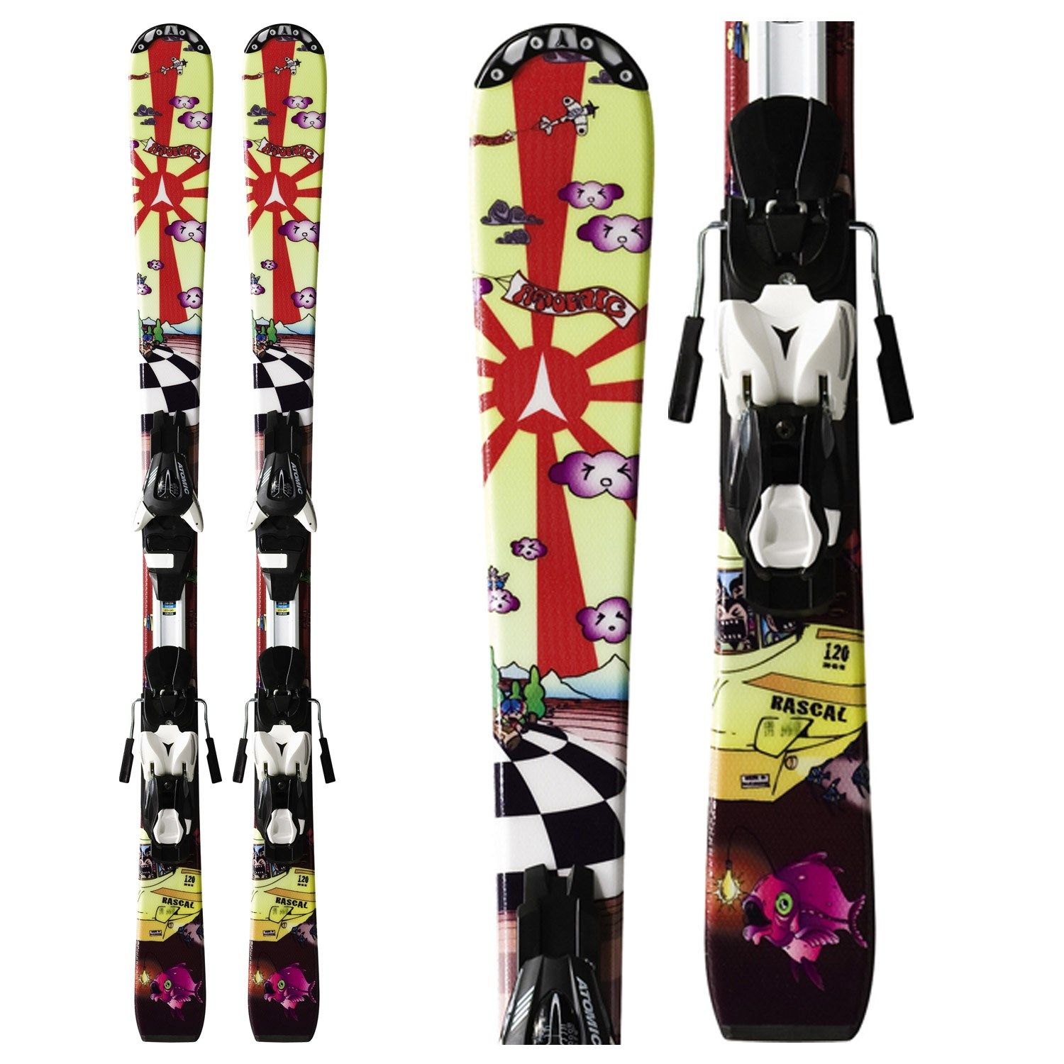 Atomic Rascal Skis + Evox 045 Bindings - Youth 2012 | evo ...