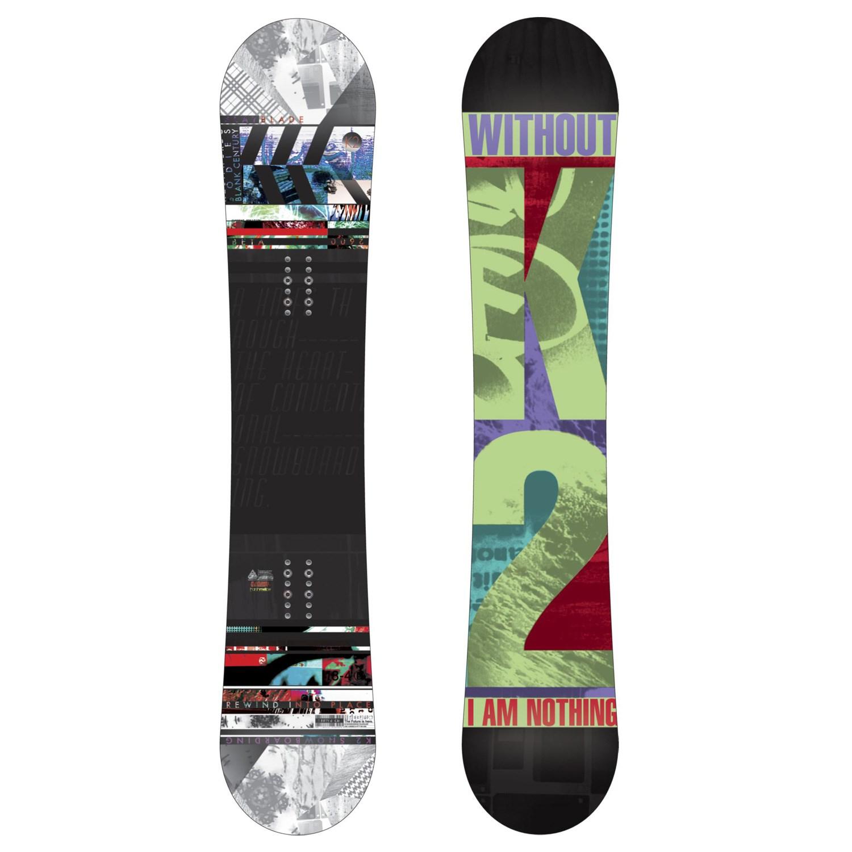 K2 Slayblade Snowboard + Ride Capo Snowboard Bindings 2012