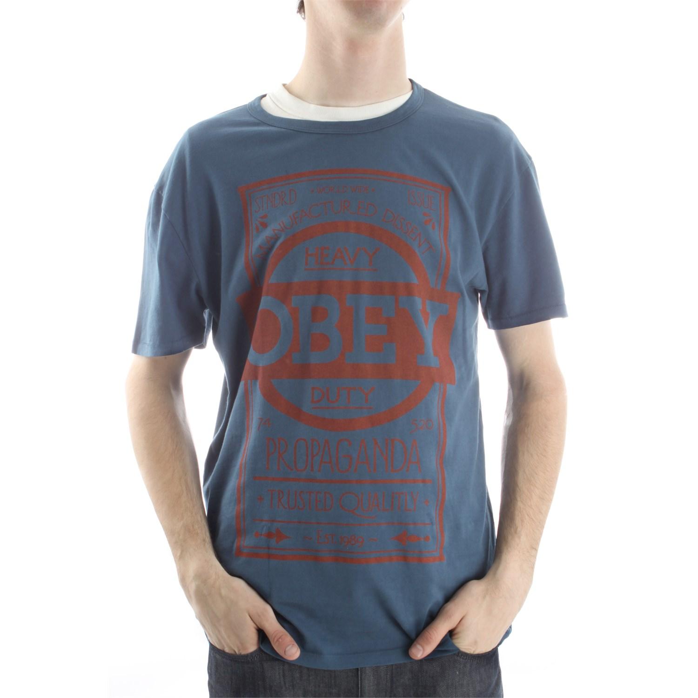 obey clothing label t shirt evo outlet. Black Bedroom Furniture Sets. Home Design Ideas