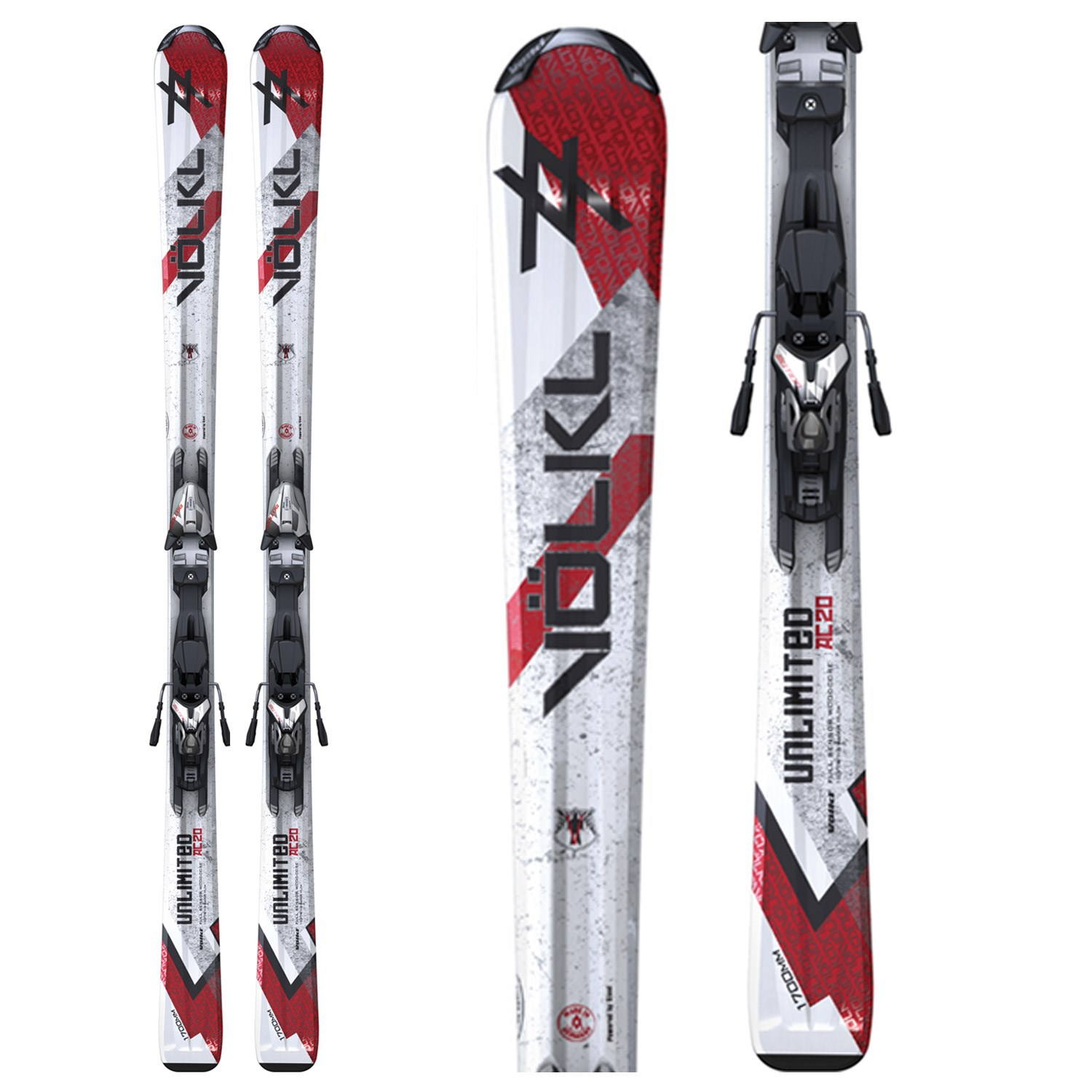 Volkl AC20 Skis + 3Motion 10.0 Bindings 2011