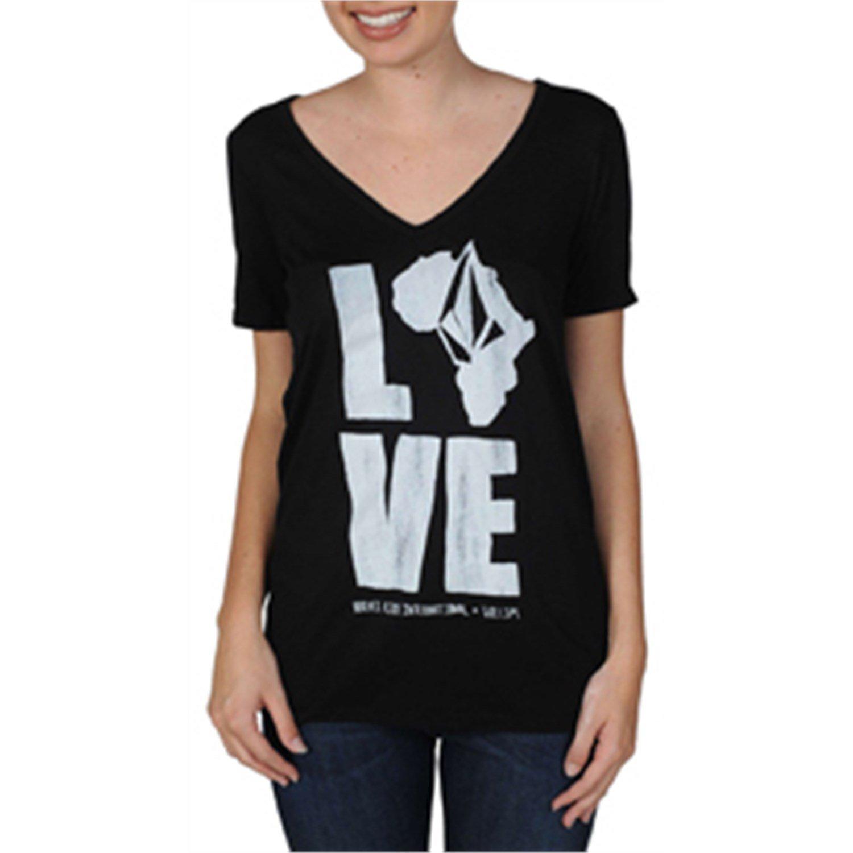 Volcom Krochet Kids Boyfriend V Neck T Shirt Women 39 S