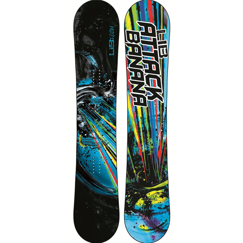 Lib Tech Attack Banana EC2BTX Snowboard + Burton Malavita