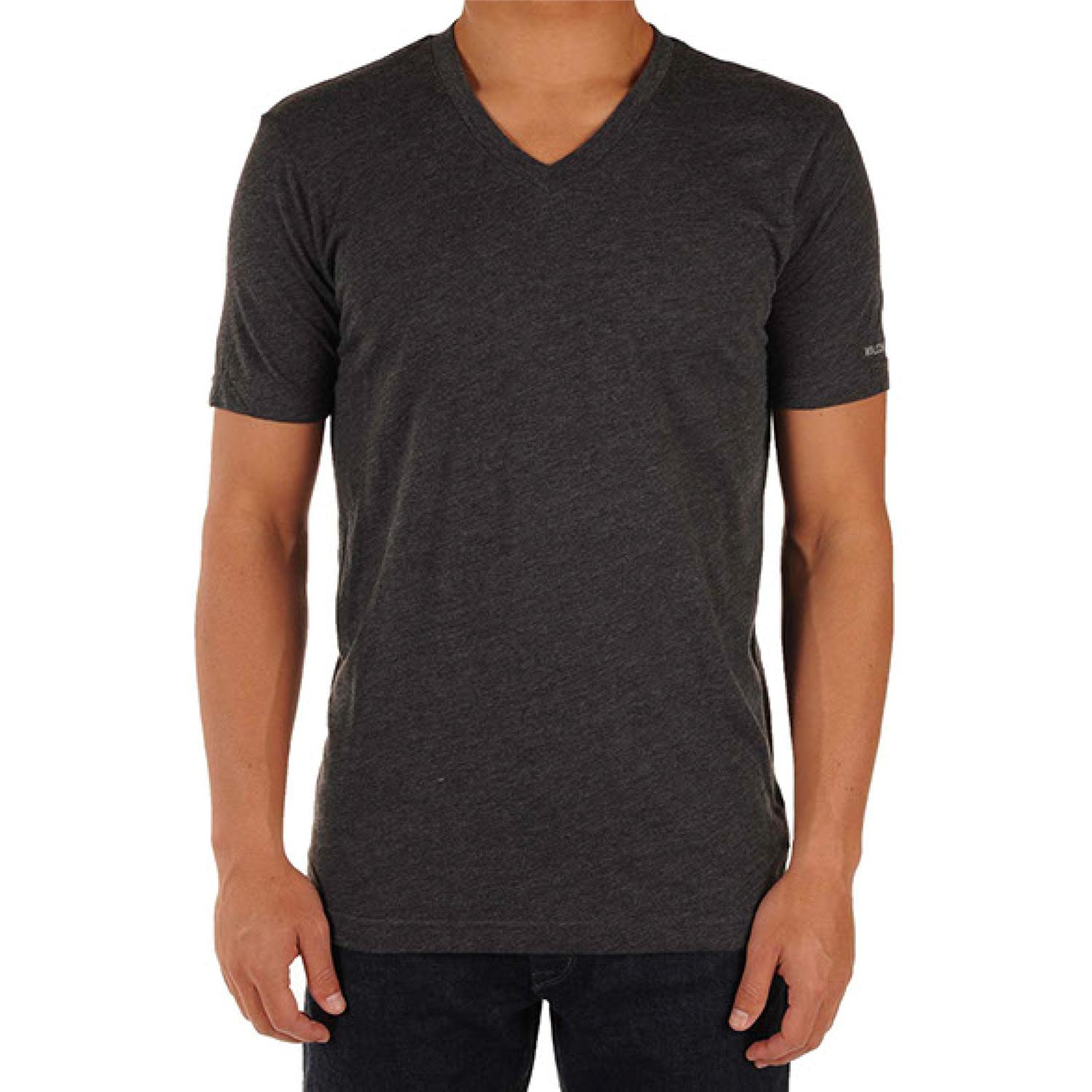 Volcom Solid Heather Too V Neck T Shirt Evo Outlet