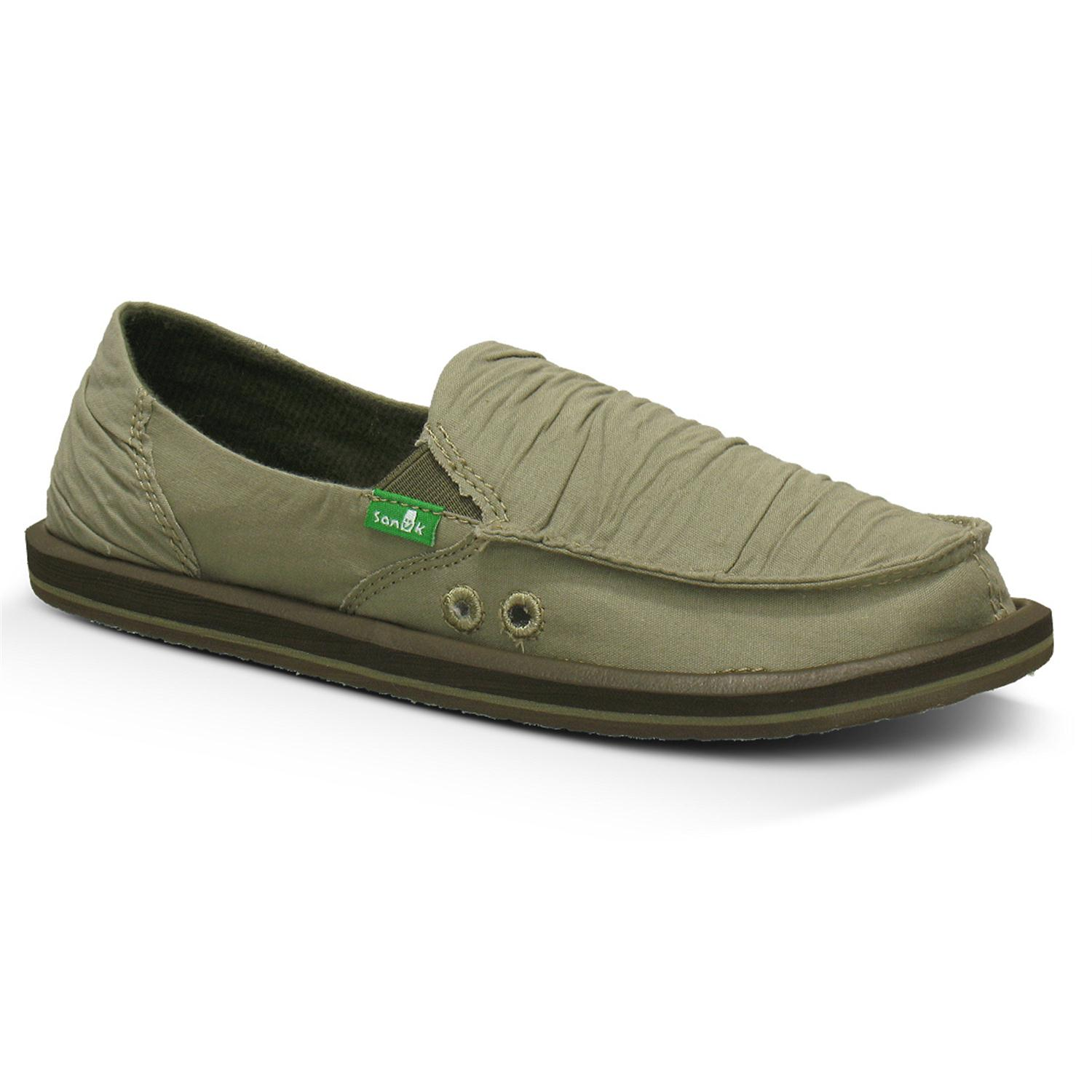 sanuk shuffle slip on shoes s evo outlet