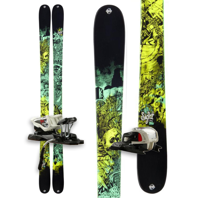 K2 Sight Skis + Marker Free 10.0 Bindings 2013