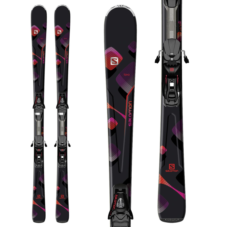 Salomon Lava Skis + L10 Bindings - Women's 2014