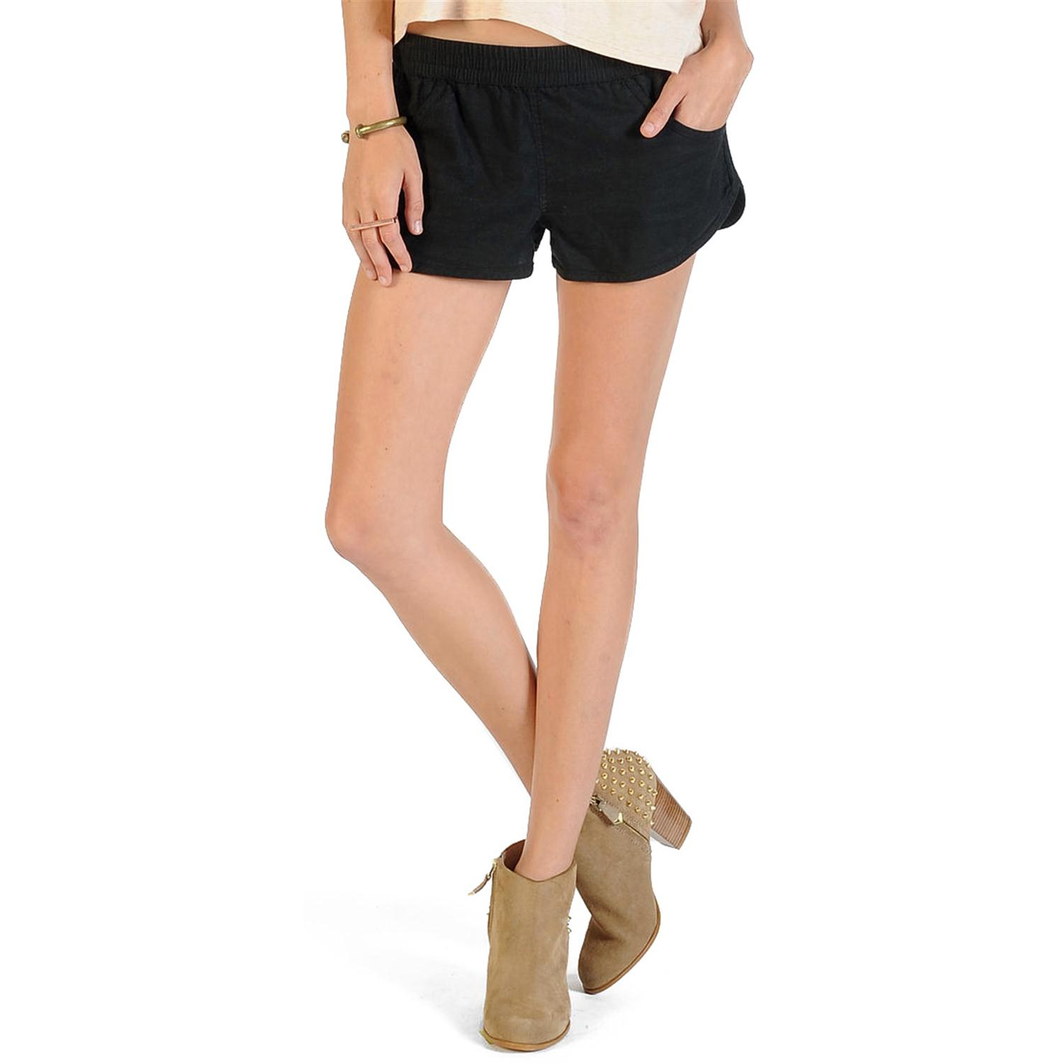 Express has the women's denim, soft & high waisted shorts you can wear in the warmer weather. Pair these with a One Eleven t shirt for a casual look, or dress them up with a cute off the shoulder top.