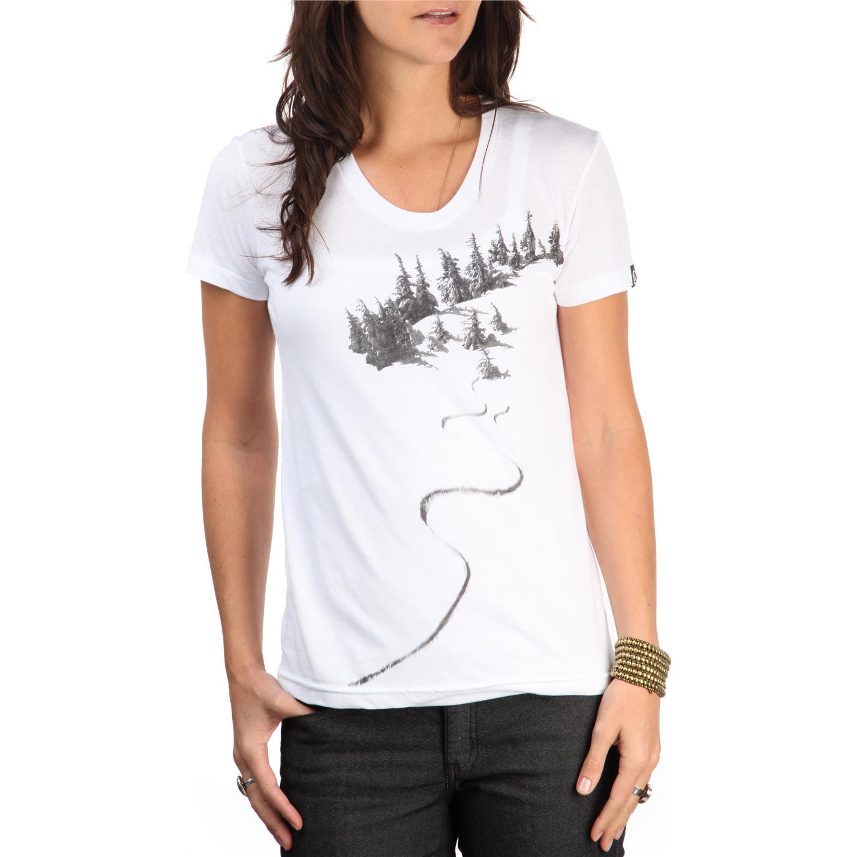 Casual industrees liza tree t shirt women 39 s evo for Casual white t shirt