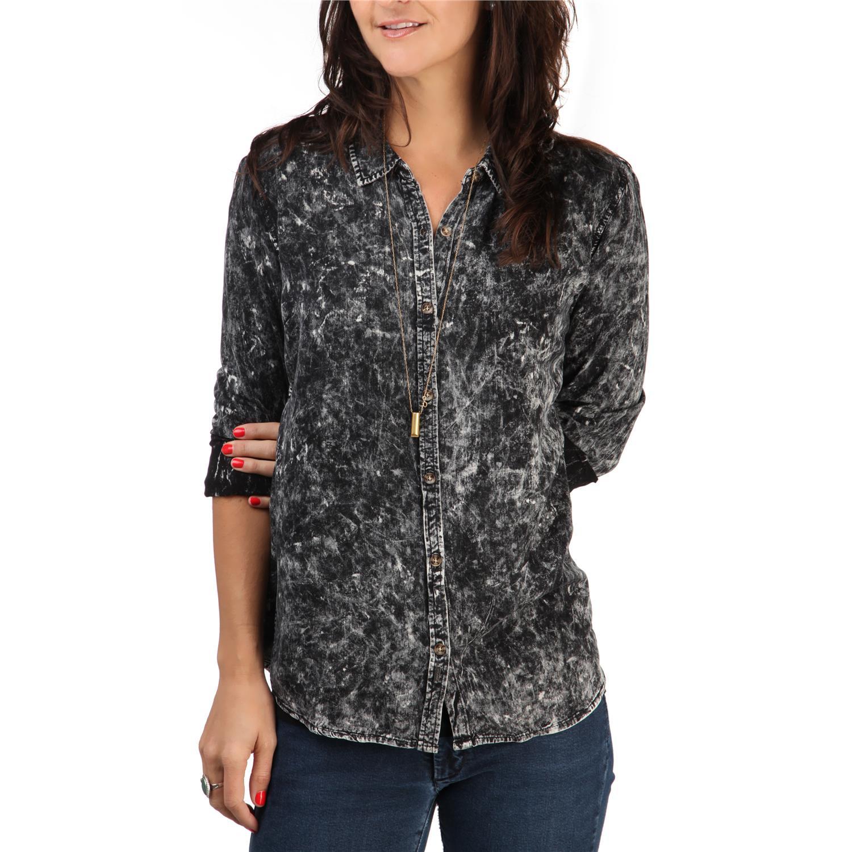 Volcom Acid Rip Long Sleeve Button Down Shirt Women 39 S