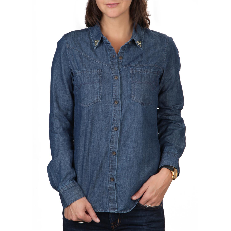 Volcom Dip Stix Long Sleeve Button Down Shirt Women 39 S