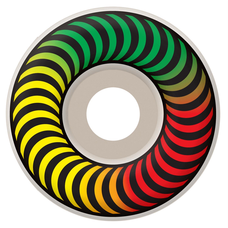 spitfire classic rasta fade 99a skateboard wheels evo