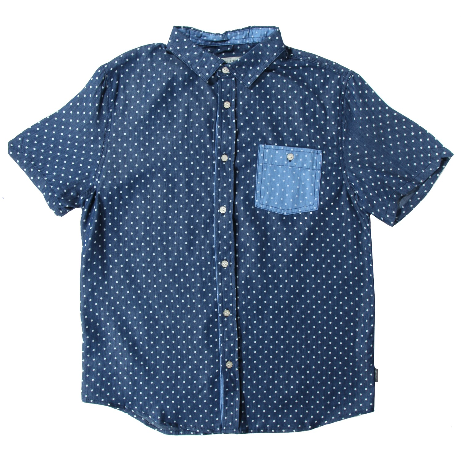 Threads for thought polka dot short sleeve button up shirt for Short sleeve button up shirts