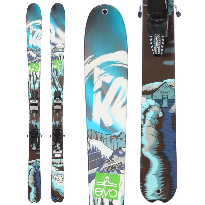 K2 COOMBAck Skis + Marker Griffon Demo Bindings