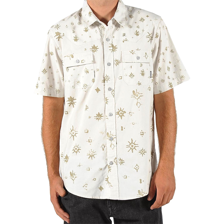 Volcom Batiko Short Sleeve Button Down Shirt Evo Outlet