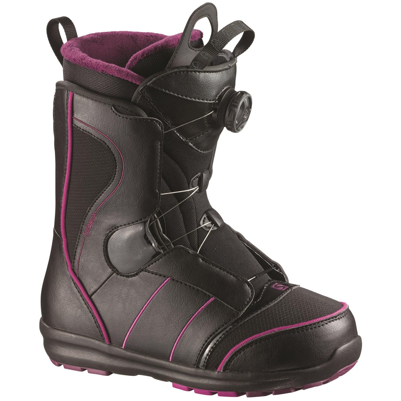 salomon pearl boa snowboard boots s 2015 evo