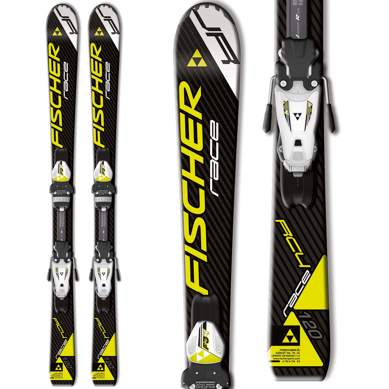 Fischer RC4 Race Skis + FJ4 AC Jr Rail Bindings