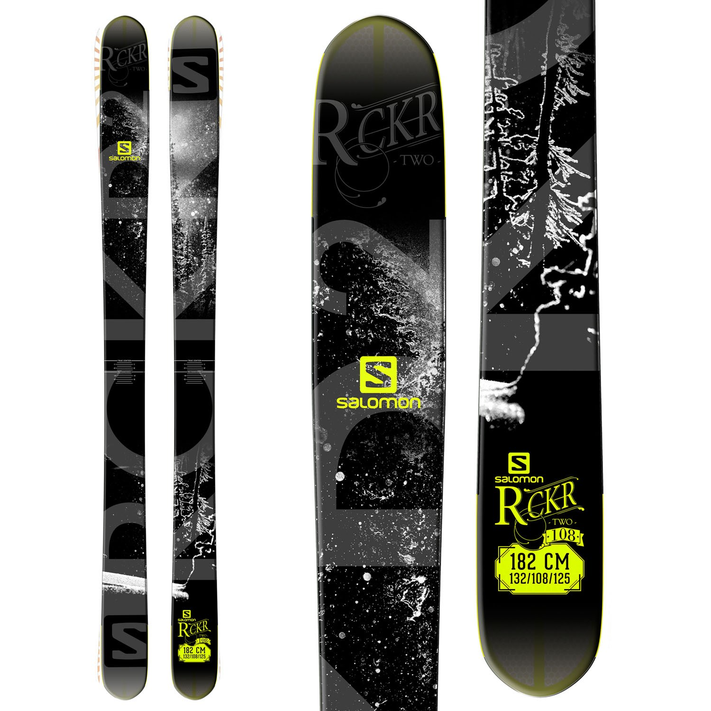 Salomon Rocker2 108 Skis + STH2 16 Ski Bindings 2015