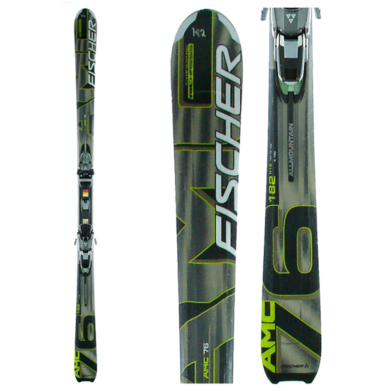 Fischer AMC 76 Skis + Bindings - Used 2006