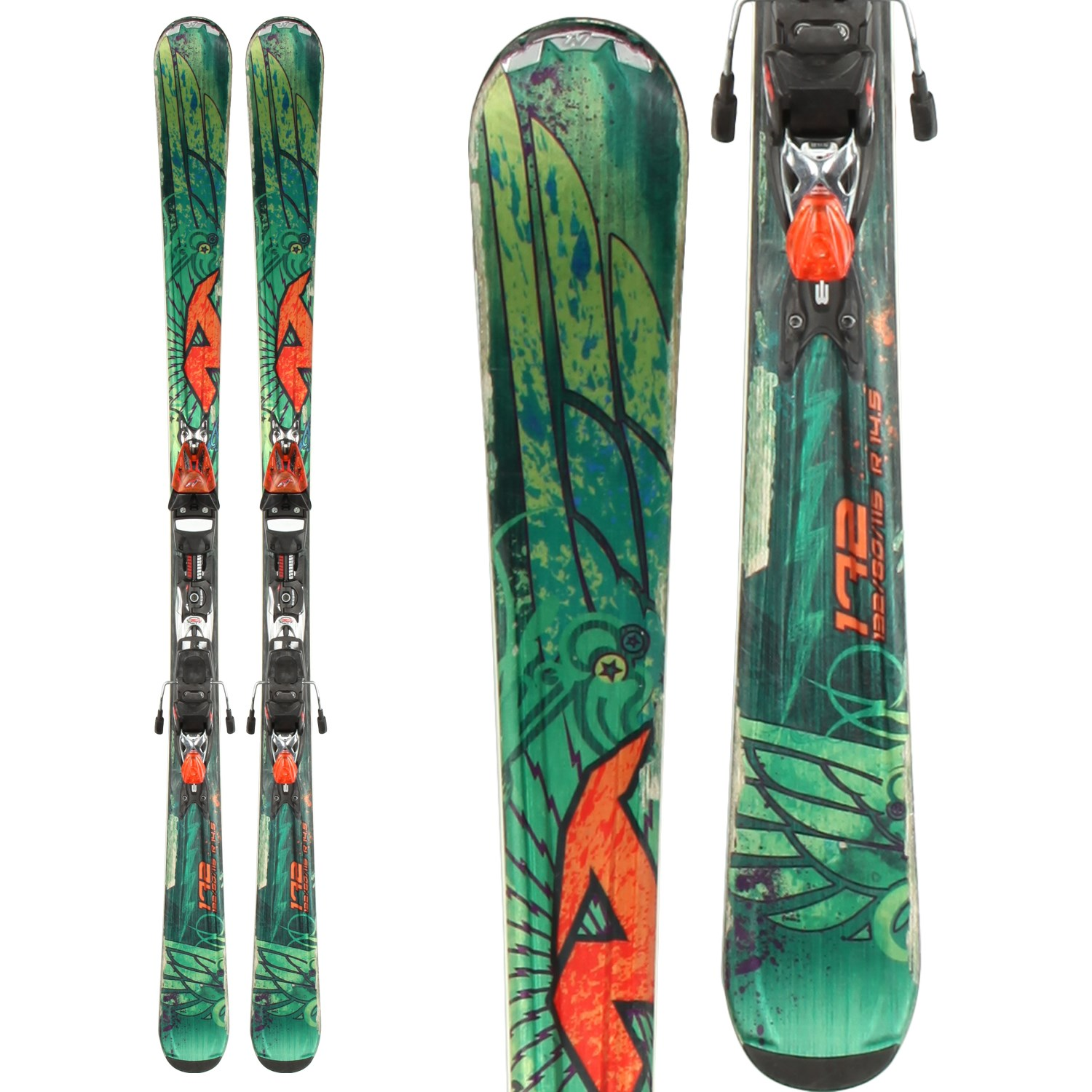 9b28158a Nordica Fire Arrow Skis + Exp 25 Demo Bindings - Used 2013