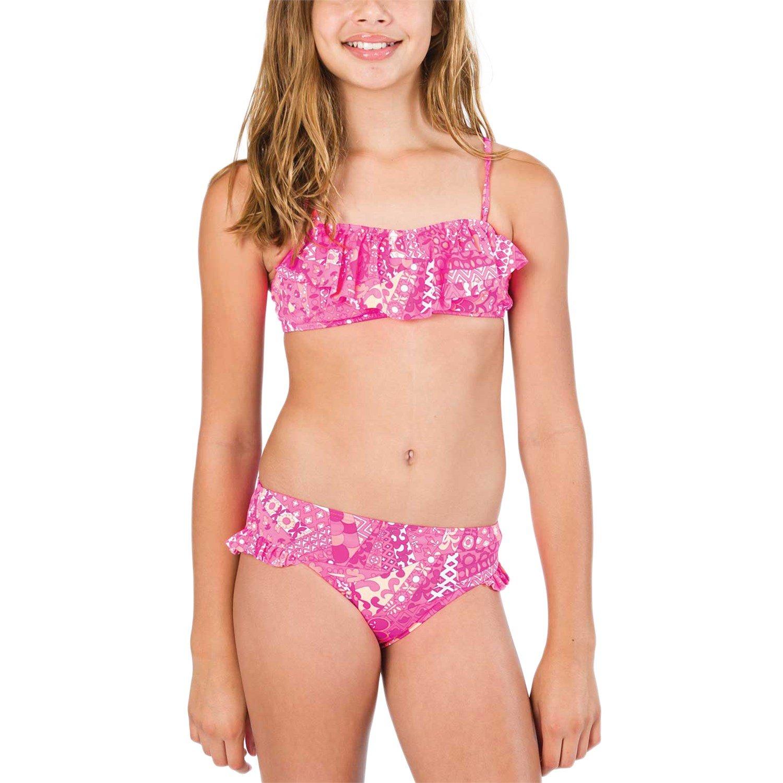 billabong carnival bandeau swim set ages 8 14   girl s evo outlet