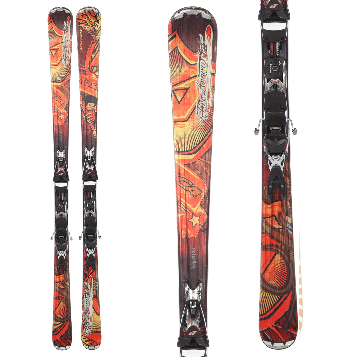 Nordica Fire Arrow 74 Skis + EXP 2S Bindings