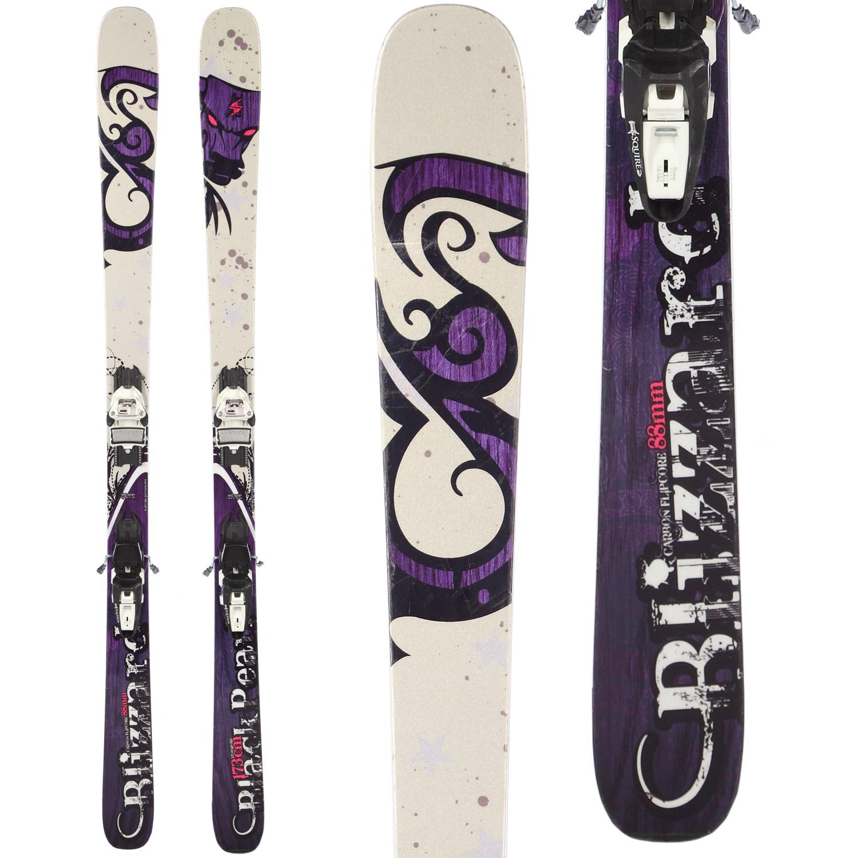 Blizzard Black Pearl Skis + Marker Squire Demo Bindings