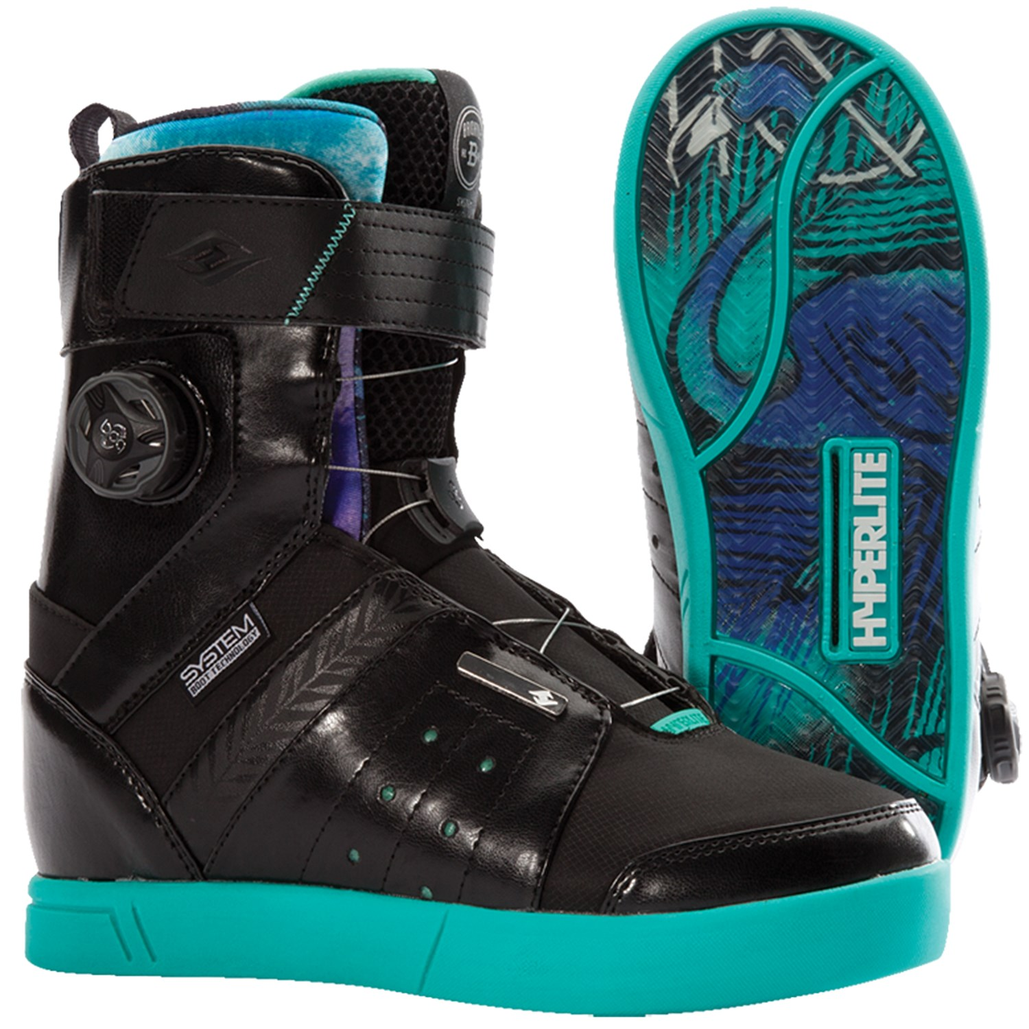 hyperlite brighton wakeboard boots s the system