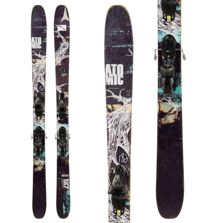 Atomic Ffg 7 Ski Bindings 80mm Brakes Kid S 2013: Atomic Ritual Skis + FFG 12 Demo Bindings