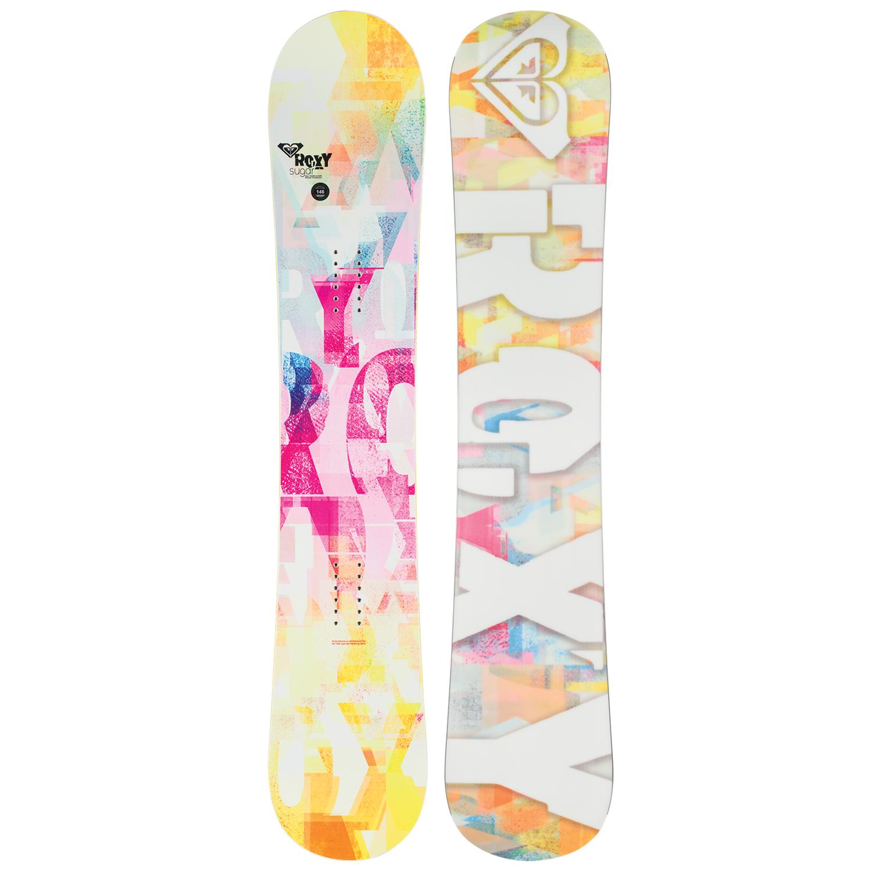Roxy Sugar Banana Snowboard + Roxy Classic Snowboard