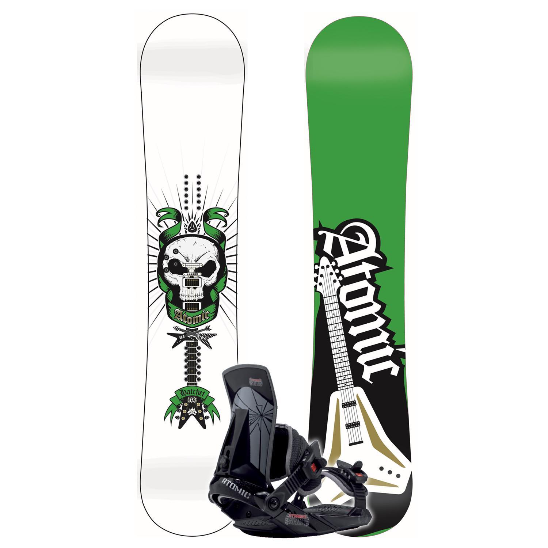 Atomic Hatchet (White) Snowboard + Straight Shot Binding