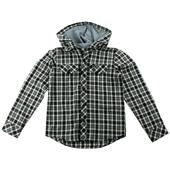 RVCA Radio Drop Hooded Button Down Shirt - Youth - Boy's