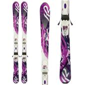 K2 SuperSweet 74 Skis + ER3 10 Bindings - Women's 2014