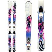 K2 SuperGlide 80 Skis + ERC 11 TC Bindings - Women's 2014
