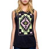 Glamour Kills Ornamental Cut-Sleeve Tank Top - Women's