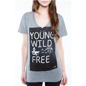 Glamour Kills Young Wild Free V-Neck T-Shirt - Women's