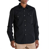Obey Clothing Post Long-Sleeve Button-Down Shirt
