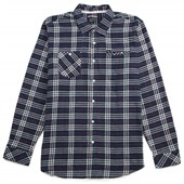 RVCA Bazz Plaid Long-Sleeve Button-Down Shirt