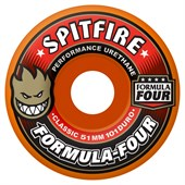 Spitfire Formula Four 101a Classic Atomic Orange Skateboard Wheels
